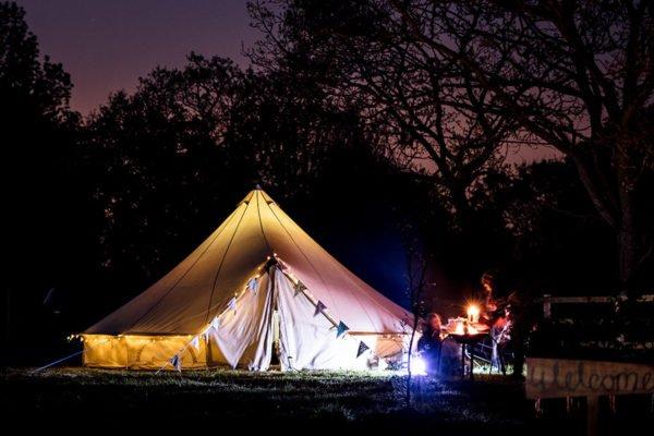 Wedding bell tent